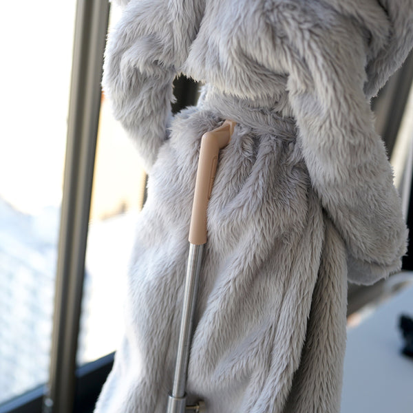 Fluffy Hooded Gown