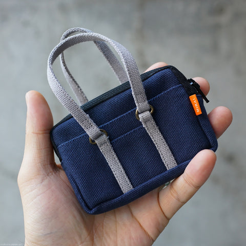 Canvas School Bag (Navy)