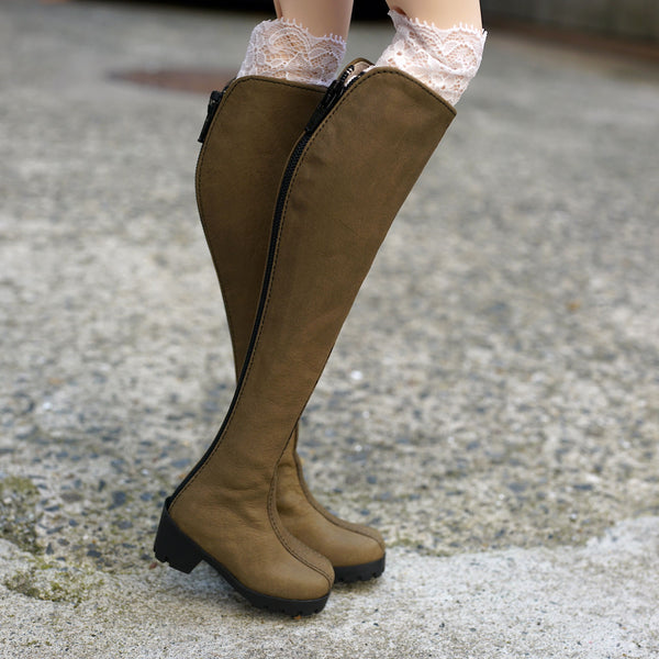 Takashin Long Boots (Khaki Green)