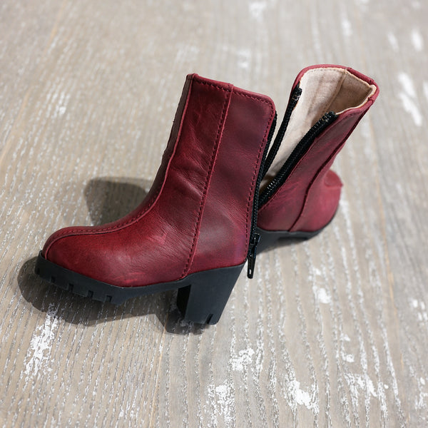 Takashin Boots (Wine Red)