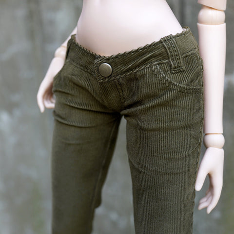 Corduroy Pants (Khaki Green)