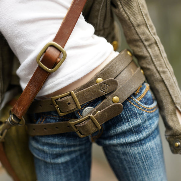 Double Belt (Khaki)