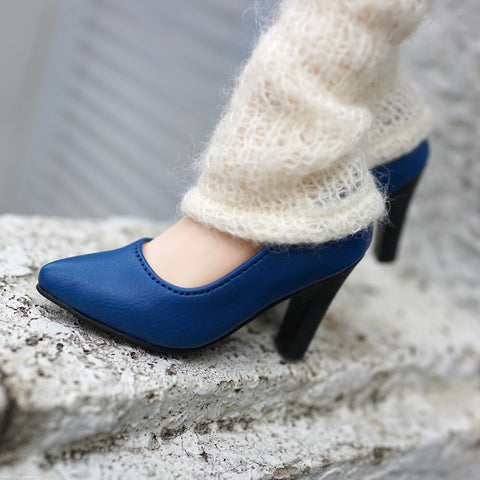 High Heel Shoes Blue