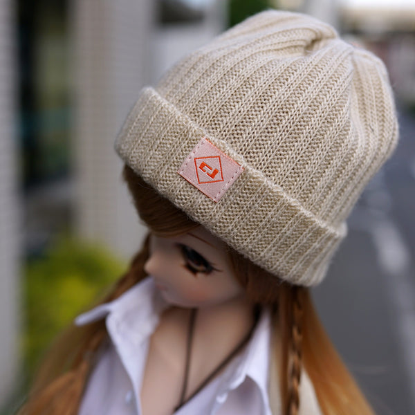 Rib Knit Hat (Beige)