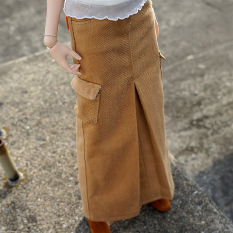 Box Pleat Long Skirt