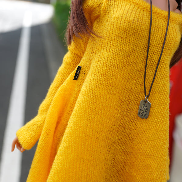 Irregular Hem Sweater (Yellow)