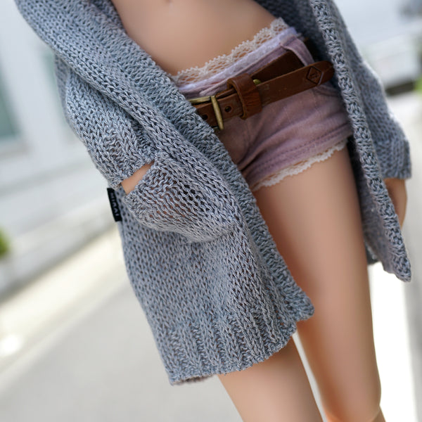 Baggy Knit Cardigan (Pastel Blue)