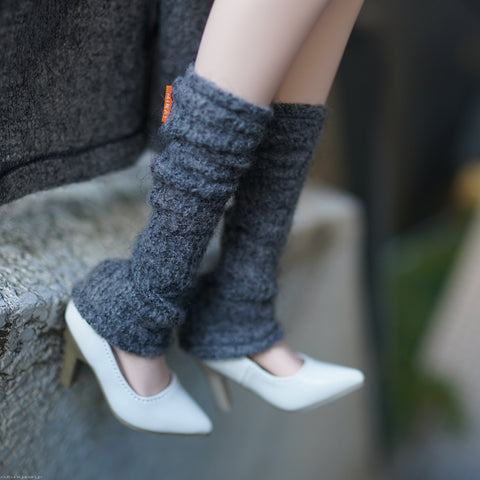Knit Leg Warmers (Gray)