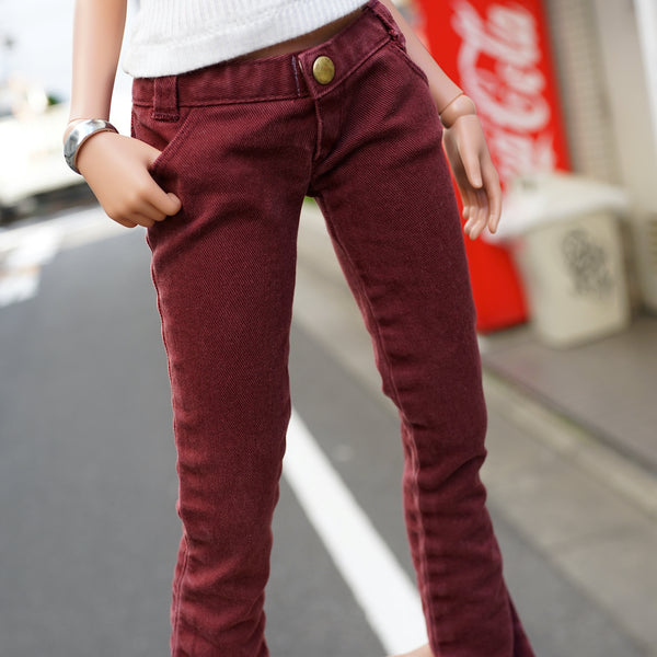 Weathered Wine Red Pants