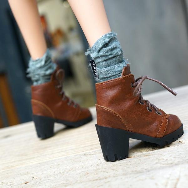 Lace Boots (Brown)