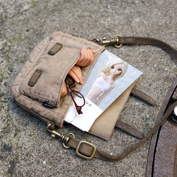 Weathered Satchel Bag (Beige)