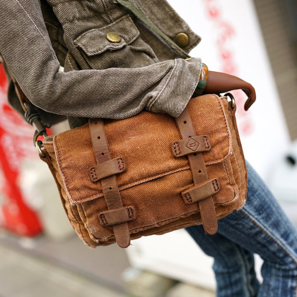 Weathered Satchel Bag (Brown)