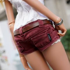 Short Jeans (Wine Red)
