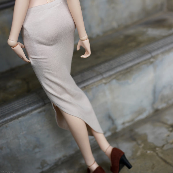 Long Tube Skirt (Beige)