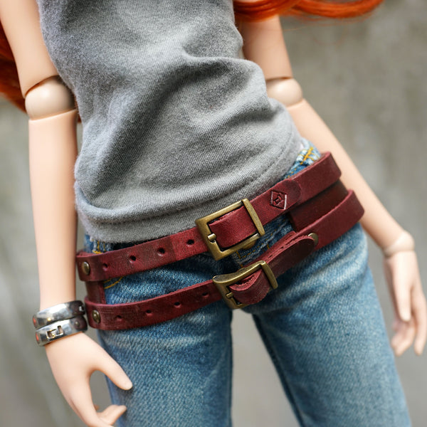 Double Belt (Wine Red)