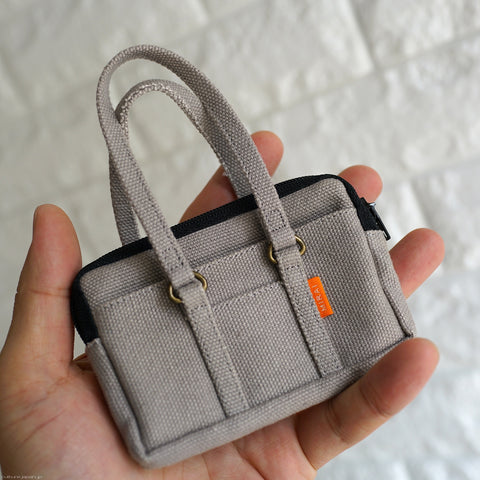 Canvas School Bag (Grey)