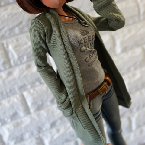 Long Cardigan (Khaki Green)