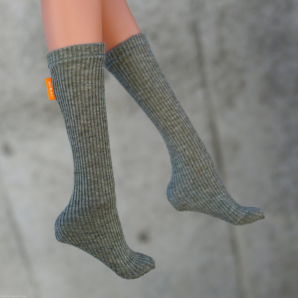 Girls Socks (Organic Khaki Green)