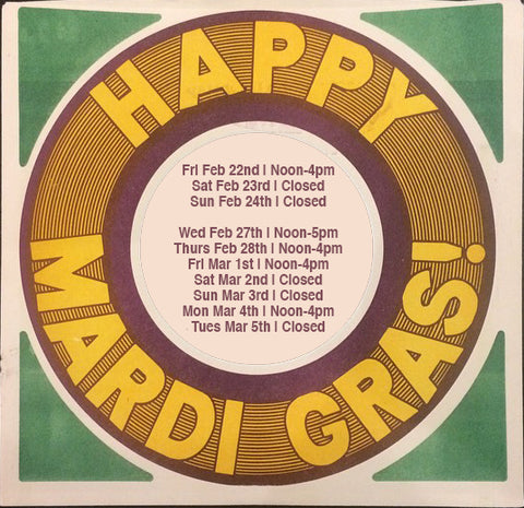 Mardi Gras 2019 Shop Hours