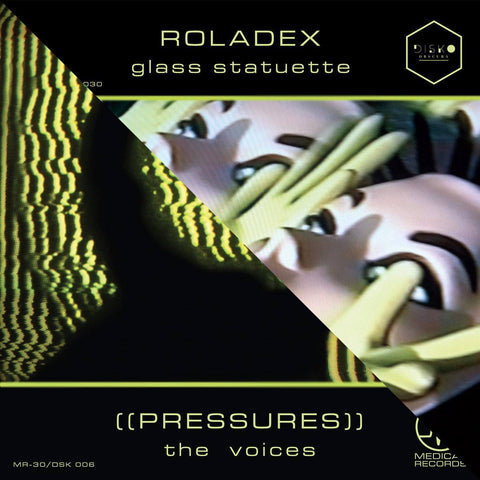 Vinyl - ROLADEX/((PRESSURES)) Glass Statuette + The Voices 7"
