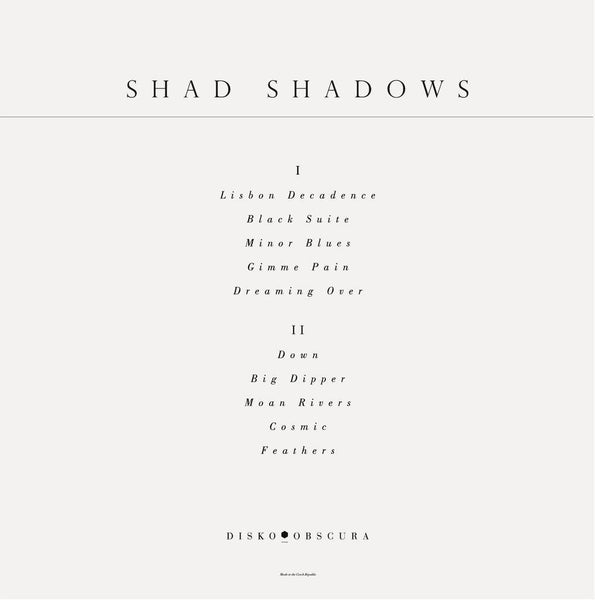 Vinyl - Shad Shadows - Minor Blues LP /// DSK 011 Disko Obscura