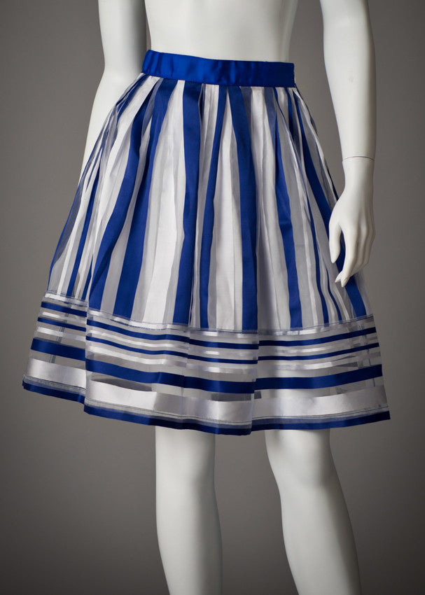 RYU Blue Striped Skirt Final Sale