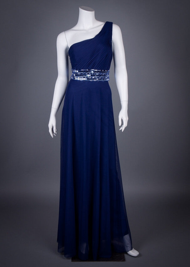 JS Collection Evening Gown With Beaded Waist