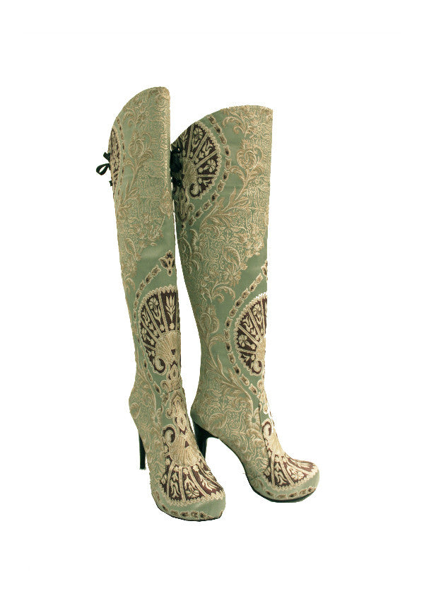 Zeyzani Sultan Mint Green Boot