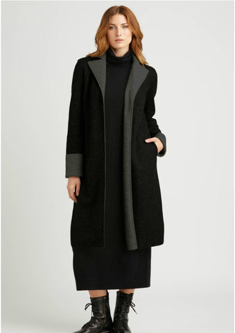 Indigenous Double Faced Boiled Wool Coat