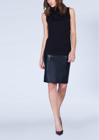 Asmar Faux Leather Pencil Skirt