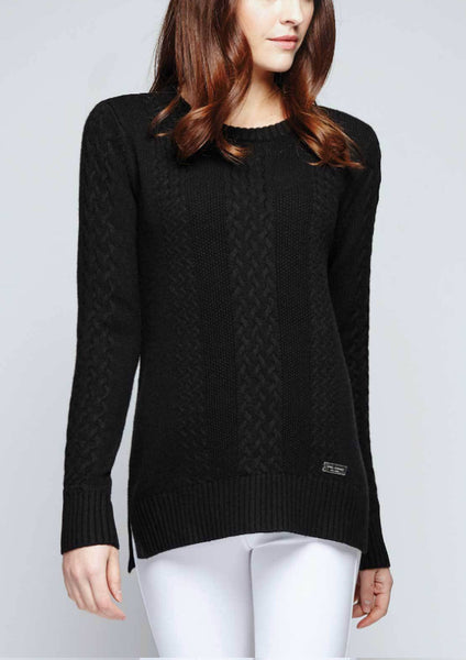 Asmar Boyfriend Sweater with Plaid Elbow Patch