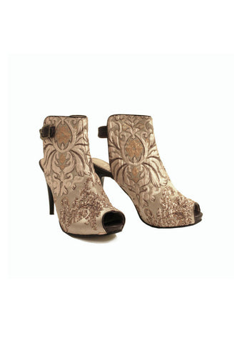 Zeyzani Elite Copper Open Back Ankle Boot