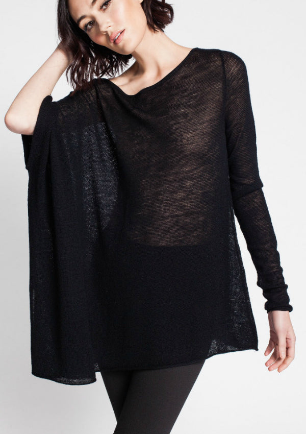 Asmar Dion Asymmetrical Tissue Knit Sweater