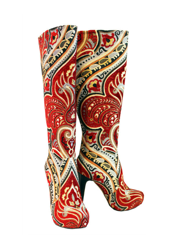 Zeyzani Fire Stiletto Boot