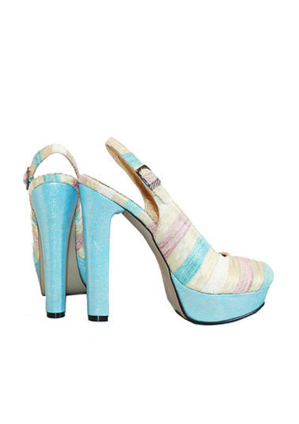 Zeyzani Striped Blue Pump