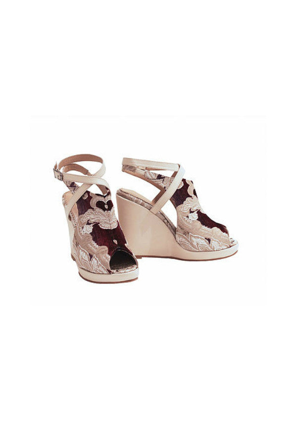 Zeyzani Leather Strap Wedge Smyrna Cream