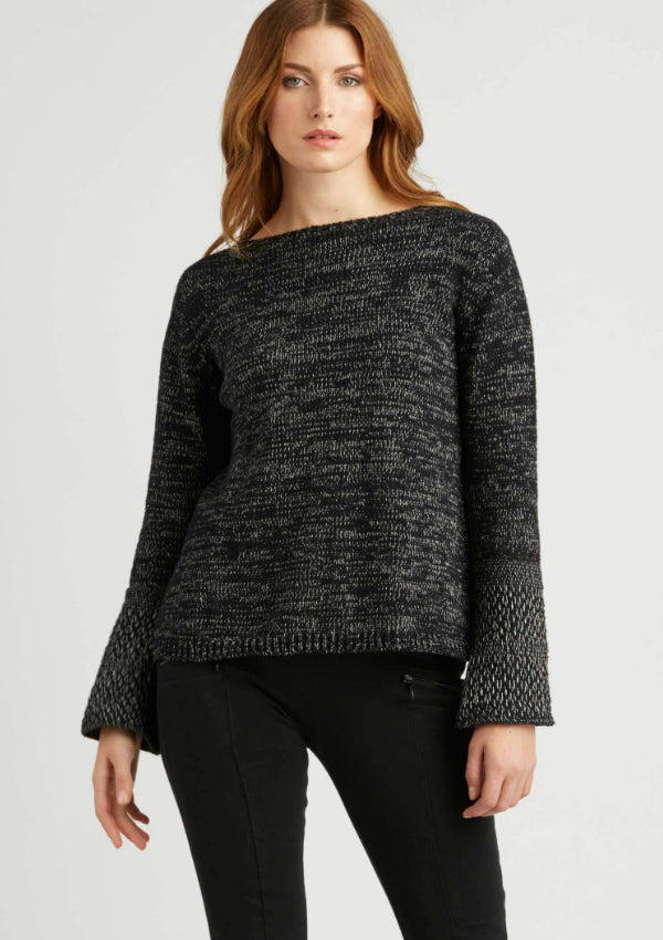 Indigenous Woven Cuff Pullover