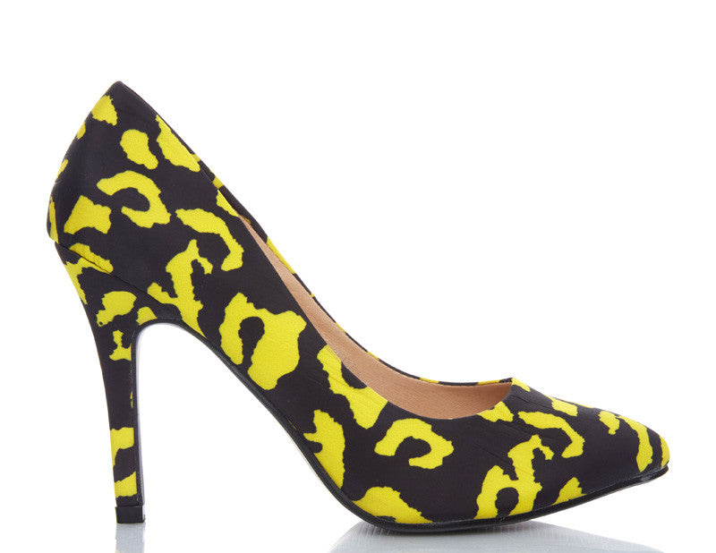 Banana Split Animal Print High Heels