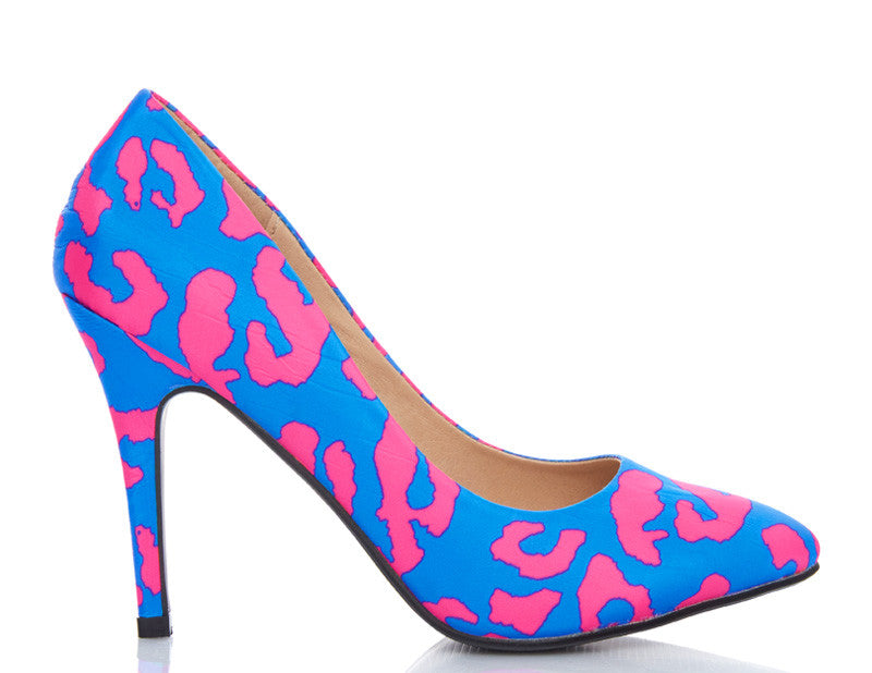 Blueberry Swirl High Heels