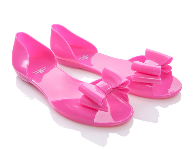 Butterfly Bright Pink Jelly Shoes