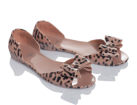Cheetahfly Animal Print Jelly Shoes