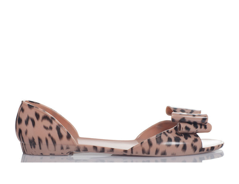 Cheetahly Animal Print Jelly Shoes