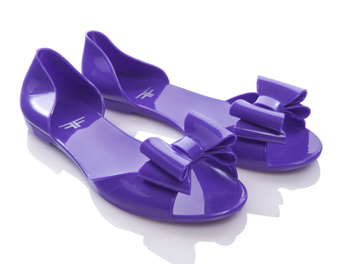 Damselfly Purple Jelly Shoes