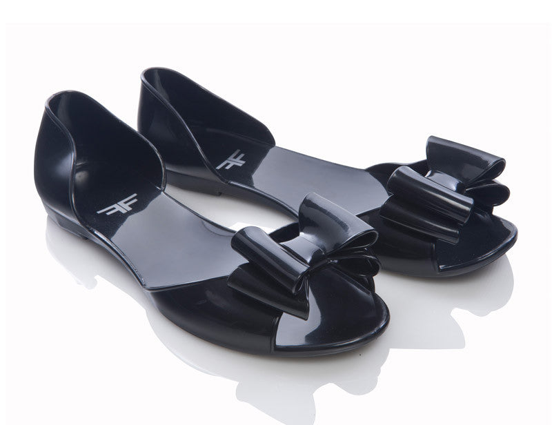 Dragonfly Black Jelly Shoes