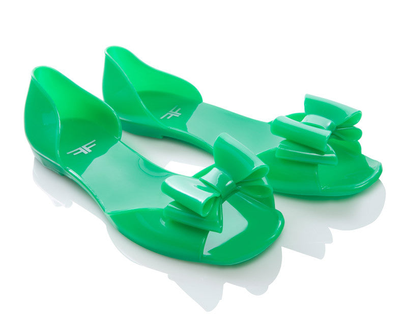 Greenfly Green Jelly Shoes