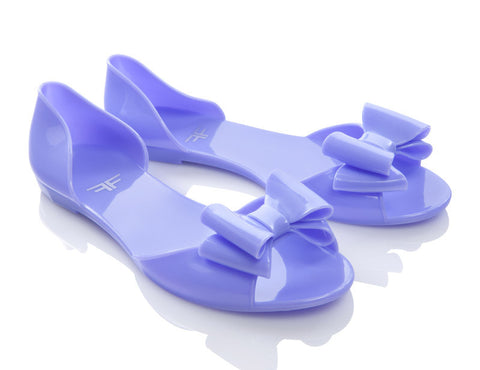 Icanfly Pastel Purple Jelly Shoes