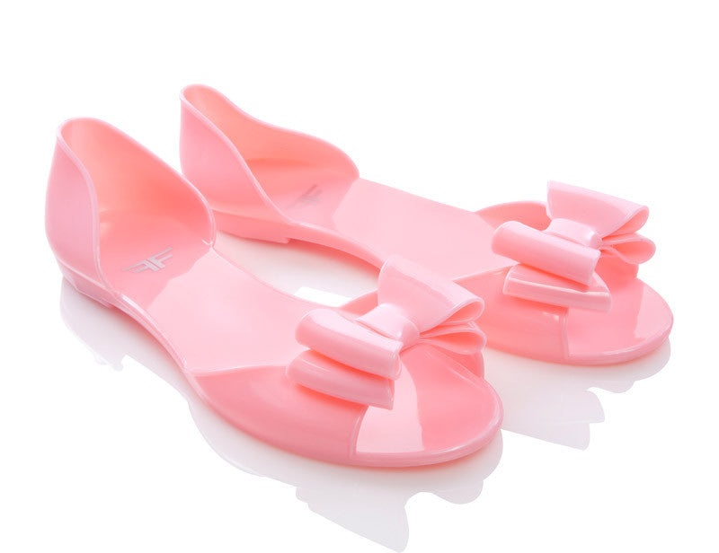 Ladyfly Pastel Pink Jelly Shoes