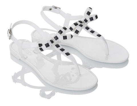 Lovebird White Jelly Shoes
