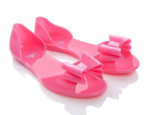 Peachfly Pink Jelly Shoes