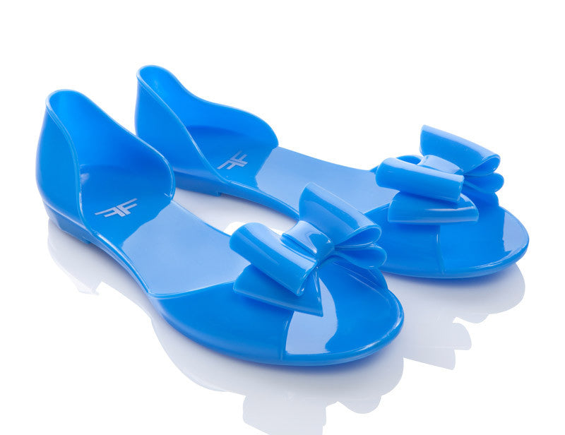 Skyfly Blue Jelly Shoes